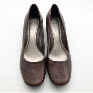 Naturalizer Brown Leather Heels, size 8.5